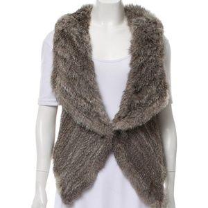 Yves Salomon Fur Short Vest (100% Rabbit)